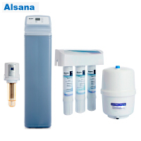 怡口 Alsana阿尔莎娜前置EST-ASF100全自动反冲过滤器智能控制+EST-R20 软水机 家用中央软水机 适