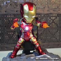 漫威复仇者联盟钢铁侠发光模型手办玩具公仔关节可动人偶礼物