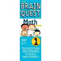 英文原版 Brain Quest Grade 1 Math 少儿智力开发系列 一年级数学