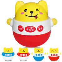 儿童0-1岁婴儿音乐不倒翁玩具 3-6-12个月宝宝大号不倒翁摆件益智