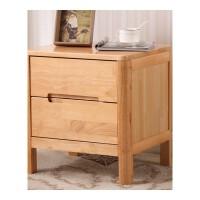 北欧实木床头柜橡木整装简约床边小茶桌现代中式原木储物小柜子 整装