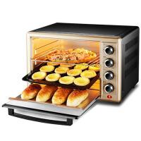 电烤箱32升上下独立控温家用烘焙 香槟色+黑色