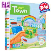 【中商原版】繁忙小镇 英文原版 BUSY TOWN 儿童绘本