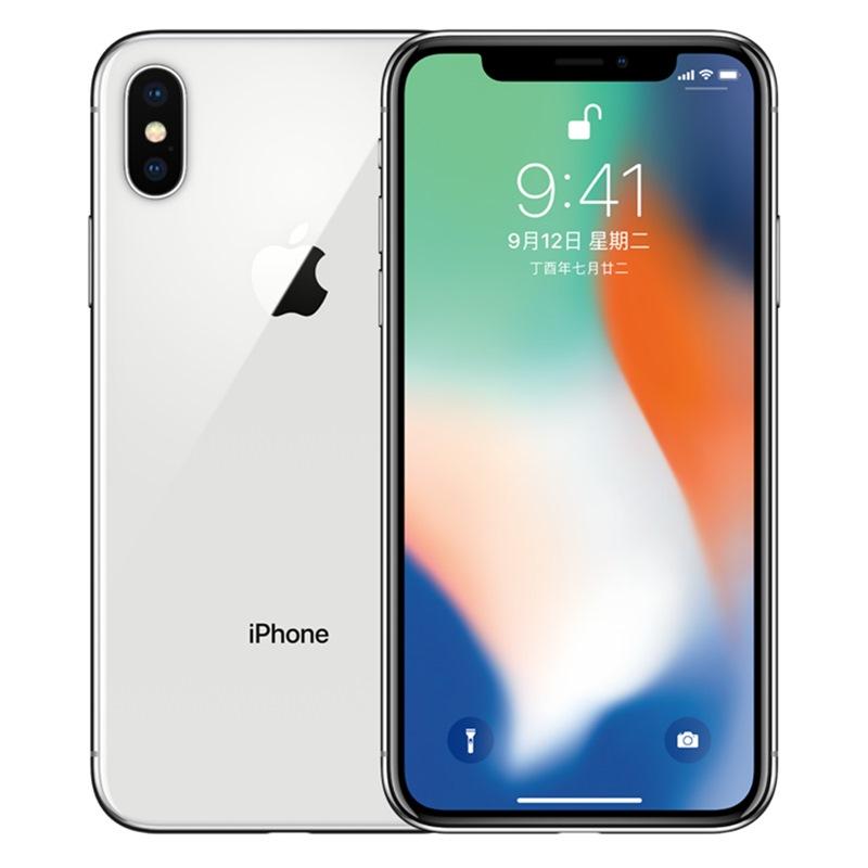 苹果Apple iPhone X (A1865) 256GB 银色 移动联通电信4G手机国行正品,全国联保!顺丰包邮