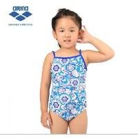 arena阿瑞娜 儿童连体印花泳衣 舒适高弹 女童游泳衣 正品1832
