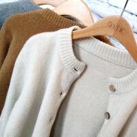 秋装新款女装针织衫开衫韩版宽松外搭毛衣秋冬女士短款上衣外套薄