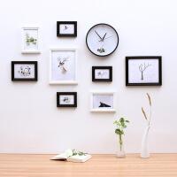 照片墙相框小清新现代中式实木照片墙相框相片墙家居饰品森系时光