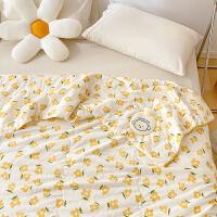 多喜爱双层纱空调被儿童全棉夏凉被纯棉夏季被芯薄被子悠悠花园1.2米床