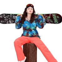 户外冬季雪服外套双单板滑雪服女 韩国