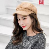 帽子女韩版潮时尚百搭英伦贝雷帽蓓蕾女士逛街日系八角帽