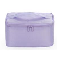 旅行化妆包小号便携收纳包简约大容量洗漱包可爱手拿包