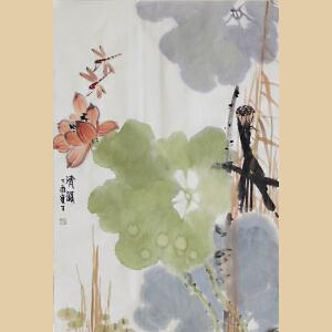 《清韵》山东美协会员、中国书画家协会副会长张宝生【真迹762】