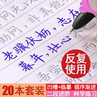 【20本套装】学生成人练字帖行楷书临摹字帖好字速成魔法练字板硬笔书法行书楷书练字贴练字神器