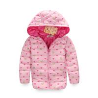 【200-100】binpaw2017冬季加厚保暖连帽女童运动儿童棉服女童棉袄外套
