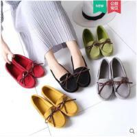 豆豆鞋女冬季新款韩版百搭平底单鞋软底舒适孕妇懒人妈妈女鞋