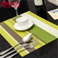 白领公社 餐垫 pvc欧式西餐垫餐具垫西餐桌垫隔热垫杯垫盘垫碗垫隔热垫碟垫餐垫4片装餐布