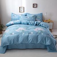 纯棉床上四件套2.2x2.4m被套2.0x2.3米220x240被罩全棉加大床夏季 2.0m床单加大(被套220*24