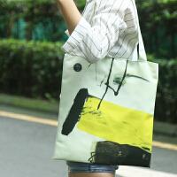 无则艺原创设计韩版文艺清新单肩简约休闲手提袋帆布袋环保袋单肩包