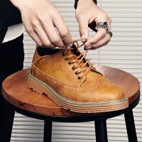 宜驰 EGCHI 休闲鞋男士布洛克耐磨英伦商务正装休闲皮鞋子男 1345