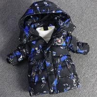 男童装宝宝棉衣小男孩羽绒棉袄迷彩外套1-4岁3幼儿加厚卡通