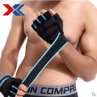 户外健身手套男器械训练半指护手掌加长护腕透气哑铃女士运动新品
