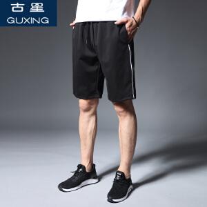 夏季运动短裤男宽松大码直筒五分裤薄款透气青年跑步健身裤子古星