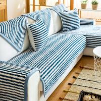加厚毛绒沙发垫防滑布艺简约冬季皮沙发上的坐垫子四季通用套巾罩