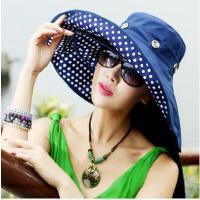 夏天凉帽防紫外线防晒可折叠户加大沿沙滩帽太阳帽子女士遮阳帽
