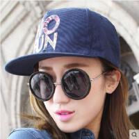 帽子女网红同款时尚户外运动新品韩版潮字母嘻哈平沿帽 刺绣男女士鸭舌棒球帽