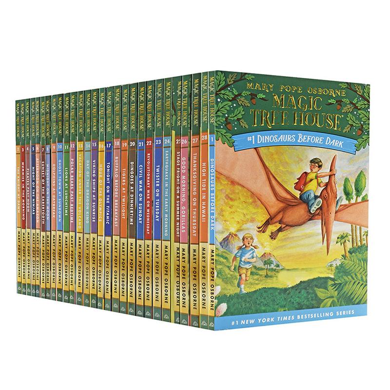 新版 神奇树屋 系列套装Magic Tree House1-28 英文原版儿童绘本 盒装共28本 含网盘资源 《神奇树屋》系列入选美国教协会的100部Z经典童书。