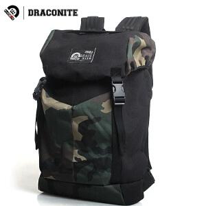 【支持礼品卡支付】DRACONITE男女英伦潮大中学生迷彩双肩包背包旅行书包电脑包11155