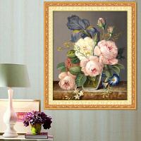 蒙娜丽莎十字绣线绣新款十字绣小幅卧室简单花卉简约现代客厅