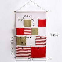 家居日用布艺挂兜收纳用品挂袋壁挂墙挂式宿舍墙上储物袋门后悬挂整理袋置物袋 #0