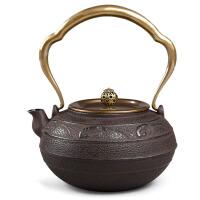 铁茶壶日本南部生铁壶 茶具烧水煮茶老铁壶铸铁茶壶电陶炉日本南部壶手工礼品茶具铸铁壶无涂层水壶
