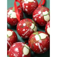 圣诞节礼物儿童糖果盒子创意包装盒幼儿园圆球形马口铁糖盒