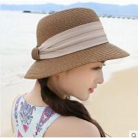 防晒帽可折叠凉帽遮阳帽草帽沙滩帽子女夏天海边海滩太阳帽春天