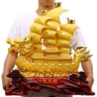 办公室桌面装饰工艺品乔迁礼品 一帆风顺龙船帆船摆件家用