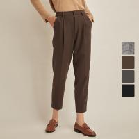 网易严选 女式斜纹褶裥宽松九分裤