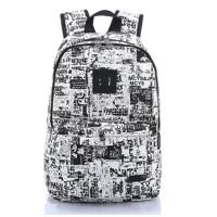 双肩包 男学生书包 女 帆布迷彩涂鸦 旅行背包电脑包