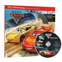 【中商原版】赛车总动员3英文原版Cars 3 Read-Along Storybook带CD故事书