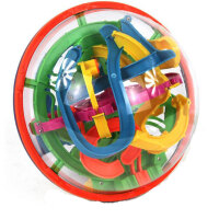 爱可优 3D立体迷宫球幻智力球挑战智力 儿童益智玩具球 创意玩具 138关925A