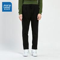 [3折到手价:38.9元再叠30券,仅限2.19-24]真维斯男装 冬装新款 针织布平脚慢跑长裤