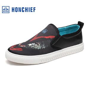 HONCHIEF 红蜻蜓旗下 春秋新款时尚男士休闲鞋潮流舒适男单鞋子