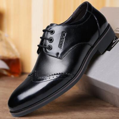 2018春季新款男士休闲商务真皮皮鞋布洛克英伦正装男鞋子四季单鞋 CF 31079