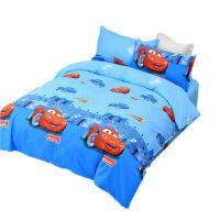 纯棉床单单件双人1.8m床全棉儿童单人宿舍卡通1.2米夏季被单 汽车总动员