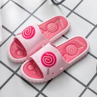 情侣拖鞋 男女式防滑室内浴室洗澡凉拖2020夏季新款女士夏天女士外穿棒棒糖鞋面家居鞋子