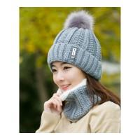 帽子女冬天潮加绒毛线帽韩版青年甜美可爱女士秋冬针织帽百搭保暖