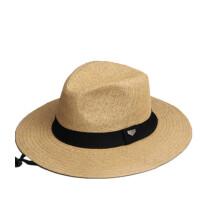英伦大檐礼帽 欧美简约大码爵士帽男女沙滩草帽子