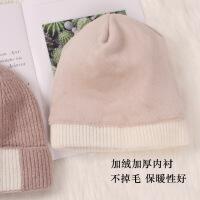 时尚帽子女冬季韩版休闲百搭潮韩国ins针织冷帽秋冬天加厚保暖学生毛线帽