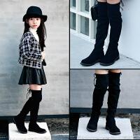 女童靴子过膝长筒靴高筒靴2017新款韩版秋季女童鞋公主长靴